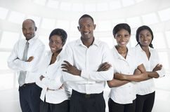 African business team / students smiling. Studio Shot Stock Photo