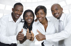 African business team  / students thumbs up Stock Photography