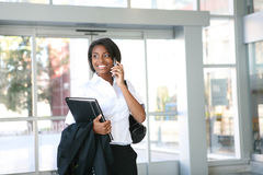 African Business Woman in Office Royalty Free Stock Photo