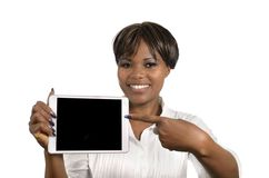 African Business Woman with Tablet PC, Free Copy Space Stock Photos