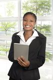 African business woman with Tablet PC Royalty Free Stock Photo
