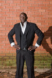 African businessman. Business man from Africa dressed in suit royalty free stock photo