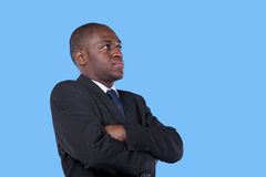 African businessman with arms crossed Royalty Free Stock Photos