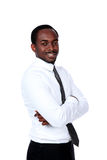 African businessman with arms folded Royalty Free Stock Photography
