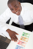 African businessman banknotes Stock Photos