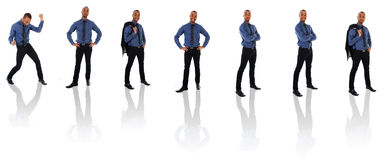 African Businessman Clone Royalty Free Stock Photo