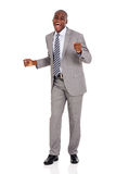 African businessman dancing Royalty Free Stock Image