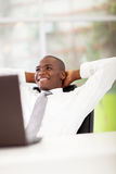 African businessman daydreaming Stock Images