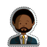 African businessman ethnicity avatar character. Vector illustration design vector illustration