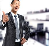 African businessman giving Royalty Free Stock Image