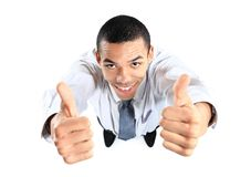 African businessman giving OK gesture Royalty Free Stock Photography