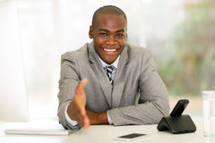 African businessman handshake Royalty Free Stock Images