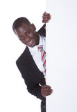African Businessman Holding Placard Stock Image
