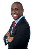 African businessman looking at camera Stock Images