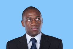 African businessman looking up Royalty Free Stock Image
