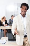 African Businessman Offering Handshake Stock Images
