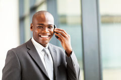 African businessman on phone Royalty Free Stock Photography