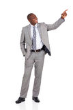 African businessman pointing Royalty Free Stock Photography