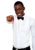 African businessman pointing at you Stock Image