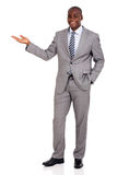 african businessman presenting Royalty Free Stock Image
