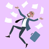 African businessman rejoices luck success royalty free stock image