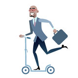 African businessman on a scooter healthy lifestyle Royalty Free Stock Photos