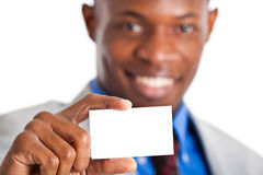 African businessman showing a blank card Stock Image