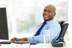 African businessman sitting Stock Photography