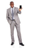 African businessman smart phone Stock Photography