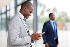 African businessman smart phone Royalty Free Stock Photo