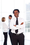 African businessman smiling at the camera Stock Photo