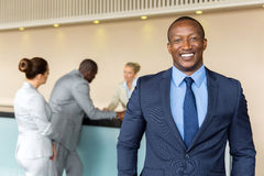 African businessman standing Stock Image
