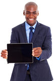 African businessman tablet Royalty Free Stock Image