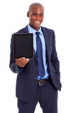 African businessman tablet Stock Photos