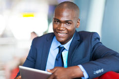 African businessman tablet Stock Images
