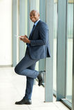 African businessman tablet pc Stock Image