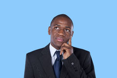 African businessman thinking Royalty Free Stock Photography