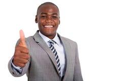 African businessman thumb up Stock Photos