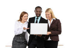 African businessman and two businesswoman Royalty Free Stock Images