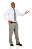 African businessman welcome gesture Royalty Free Stock Photo