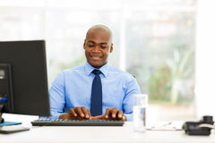 African businessman working Stock Image