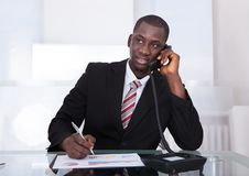 African businessman working at office Royalty Free Stock Photo