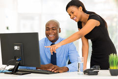 African businesspeople working Stock Photo