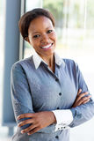 African businesswoman arms folded Royalty Free Stock Photo