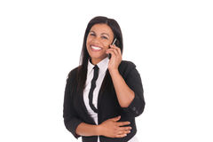 African businesswoman with cell phone Stock Photo