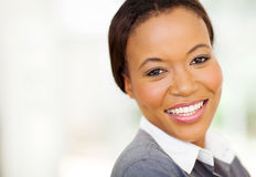 African businesswoman closeup Royalty Free Stock Image