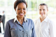 African businesswoman colleague Royalty Free Stock Photo