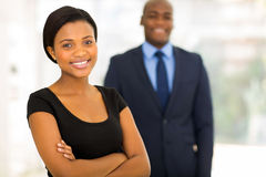 african businesswoman colleague Stock Image