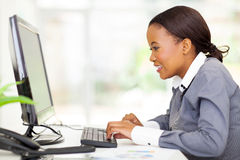 African businesswoman computer Stock Image