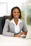 African businesswoman computer Royalty Free Stock Photography